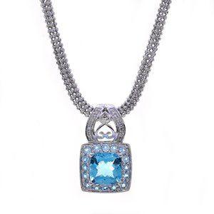 3.50 Carat Topaz & 0.05 Carat Diamond Necklace